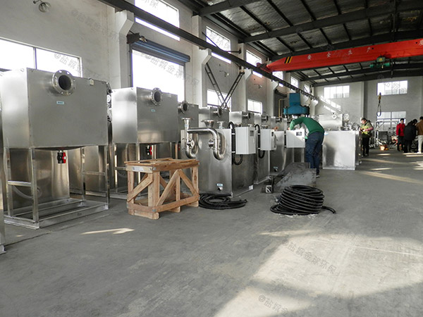 厨用地上式中小型半自动隔油器提升设备适用行业