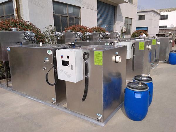 餐饮专用大地埋式自动刮油隔油强排设备的效率