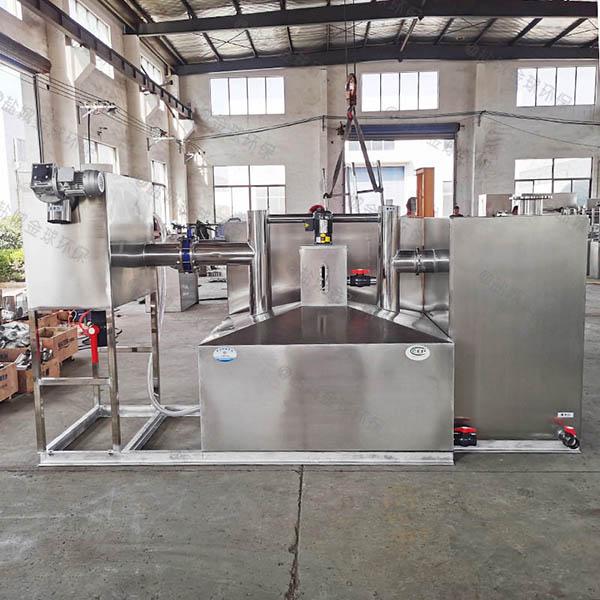 餐饮业大地面式全自动隔油一体化设备安装方法