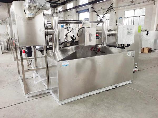餐饮专用中小型地面多功能隔油全自动提升设备结构图