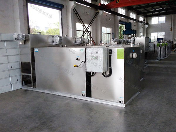 饭馆地面式大自动提升隔油污水提升一体化设备调试方案