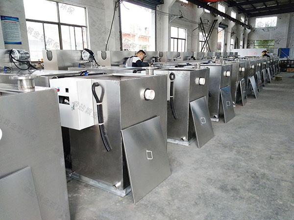 厨下型大地上自动除渣隔油提升一体设备示意图