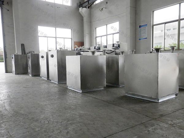 饭堂地下式自动除渣隔油强排一体化设备厂家价格