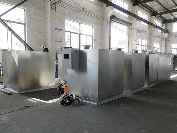 餐厅厨房大型地面全自动智能型隔油提升一体机系列