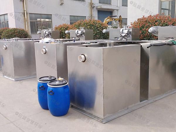商用室外大型全自动隔油强排设备的大小