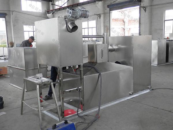 餐饮类大地下室自动隔油强排一体化设备正确安装