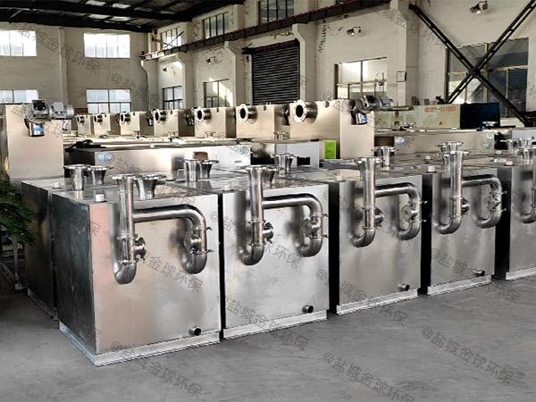 火锅大地面式机械一体化油水分离装置安装方法
