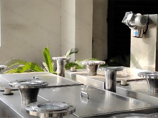 饮食业室外大型自动排水气浮式油水分离机供应
