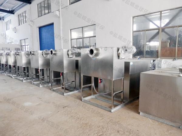 饭店室外大全自动油水处理设备施工方案
