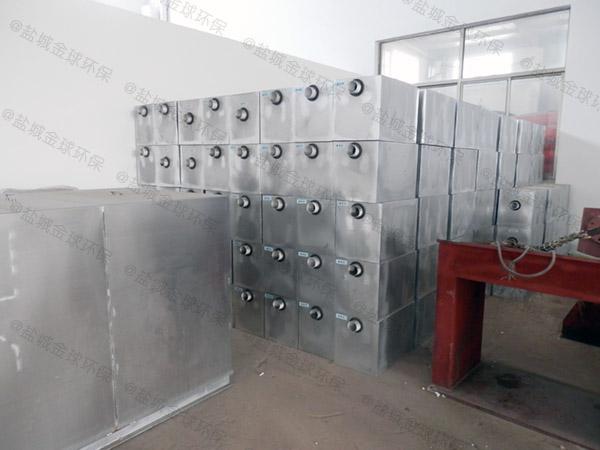 小饭店地下室自动化不锈钢隔油设备怎么解决