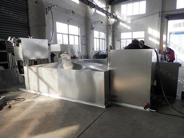 单位食堂埋地式分体式水与油分离设备多少钱一台