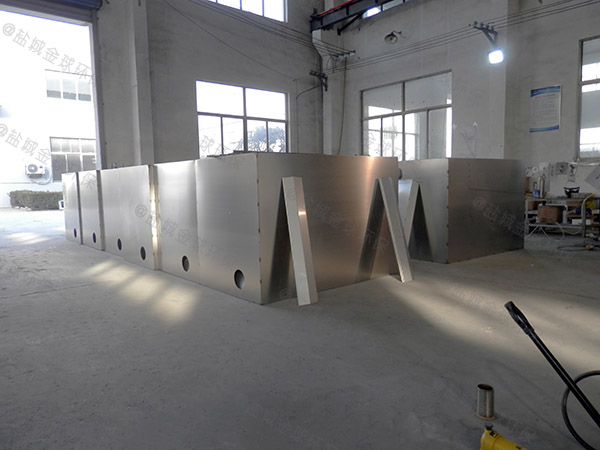 单位食堂户外大型半自动一体化隔油处理设备的设置