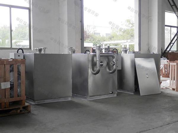 餐饮行业大型砖砌隔油提升一体设备设计计算