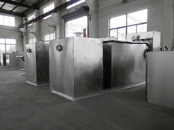 工地食堂500人隔悬浮物隔油净化设备图