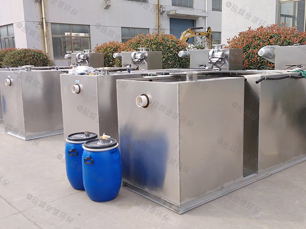 工厂食堂100人砖砌隔油过滤器示意图