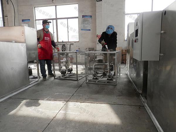 厨房用8吨的长宽高混凝土隔油强排设备示意图