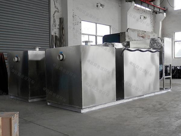 餐饮类2号不锈钢隔油器提升设备示意图