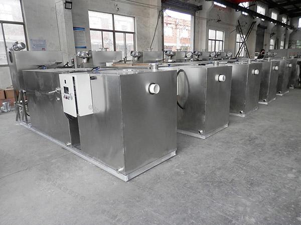 工地食堂大型隔渣隔油提升一体化装置使用