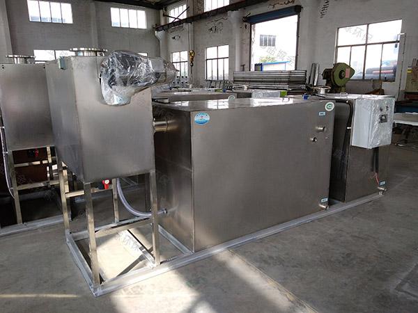 餐饮业3.1米*1.2米*1.85米隔油隔渣隔悬浮物隔油器自动提升装置视频