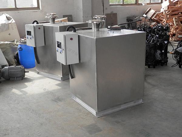 餐饮专用小型隔渣隔油强排一体化设备结构图