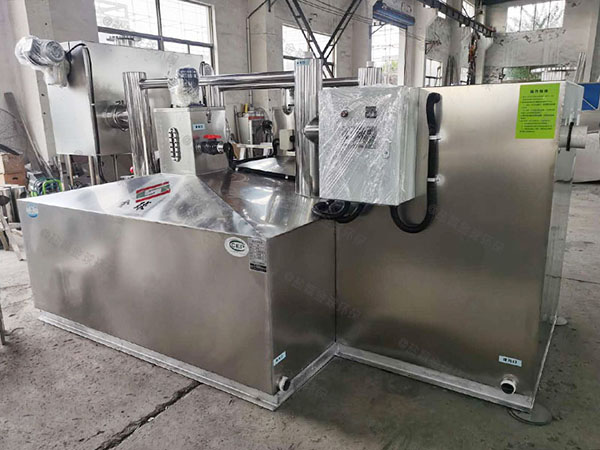 餐饮厨房密闭式隔油隔渣隔悬浮物污水处理隔油设备内部结构