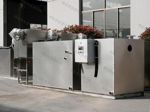 餐饮厨房水池大型电加热气浮式自动隔油器环保要求