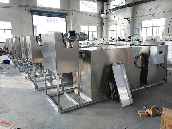 饭店厨房排水沟大型无动力强排油水分离器行业标准