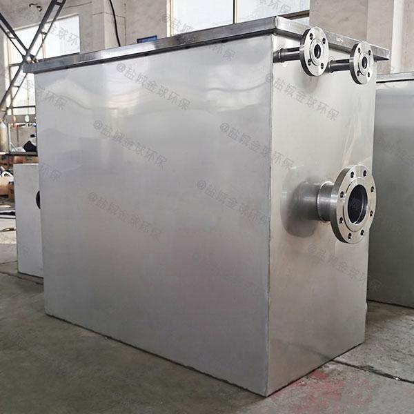 餐饮厨房水池小型不锈钢提升隔油一体化设备设计方案