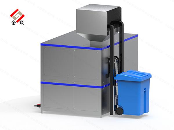 日处理10吨环保餐饮垃圾油水分离设备图片