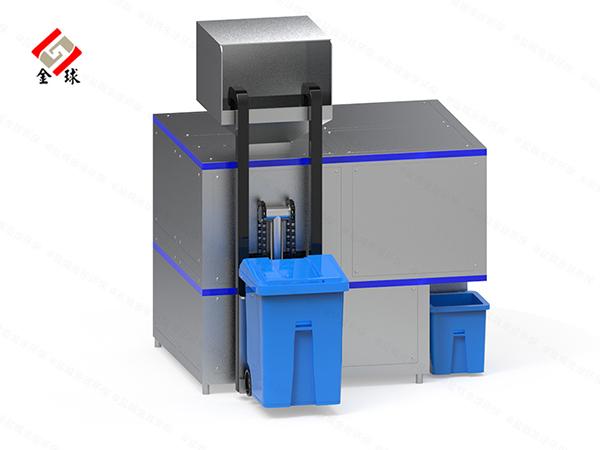 10吨全自动餐饮垃圾粉碎机生产工艺流程