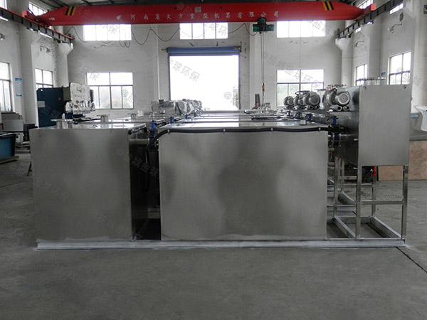 餐饮厨房水池地埋式分体式三相油水分离器合格证