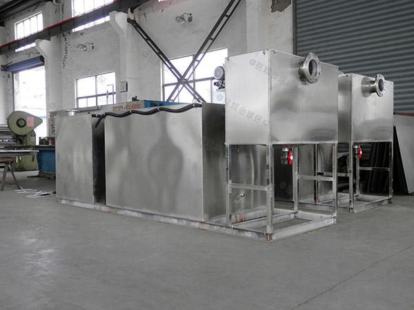 餐饮厨房小不锈钢三段式隔油池设计标准